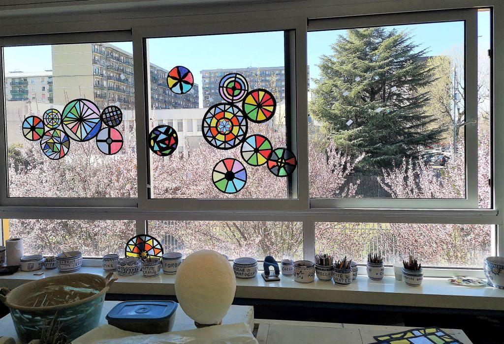 La primavera vista e dipinta dal laboratorio di arte del Campioni