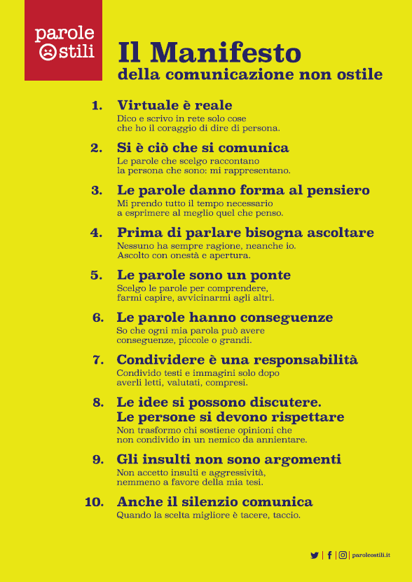 Il manifesto, link alla sua versione pdf per una migliore lettura